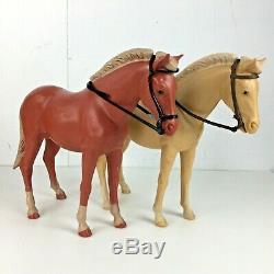 Vintage Marx Johnny West Jane Lot Toy Horses Accessories Cowboy Clothes Gun Chap