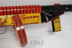 Vintage Marx Tin Litho Wind Up G-Man Toy Gun Wind Up Noise & Sparks WORKS SJ 77F
