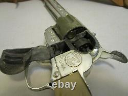 Vintage Mattel Fanner 50 Cap Gun With Fanner 50 Leather Holster & Shells