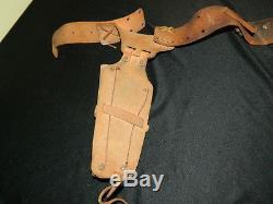 Vintage Mattel Fanner 50 Genuine Cowhide Leather Belt Cap Gun Holster