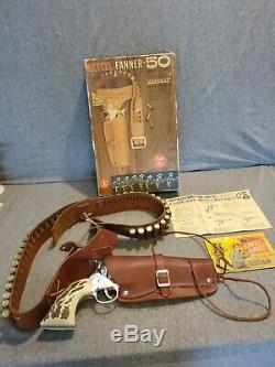 Vintage Mattel Fanner 50/Shootin Shell 45 Toy Cap Gun In Box Ships Free