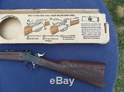 Vintage Mattel SHOOTIN SHELL Indian Scout Rifle CAP GUN in Box SUPERB