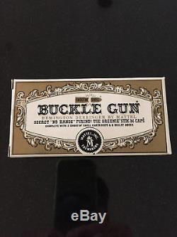 Vintage Mattel Shootin-Shell Buckle Derringer Cap Gun Mint in Box