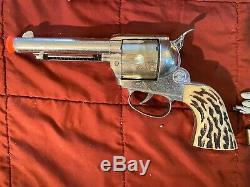 Vintage Mattel Shootin Shell Fanner Cap Gun With Original Box