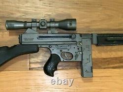 Vintage Mattel TOMMY-BURST Marauder Division toy THOMPSON Machine Cap GUN Works