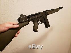 Vintage Mattel Tommy Burst Plastic Toy Machine Gun Works