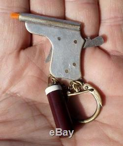 Vintage Miniature Keychain Pinfire Pistol CAP GUN GERMANY