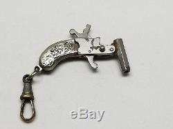 Vintage Miniature Toy Cap Gun Charm Fob Made in Austria