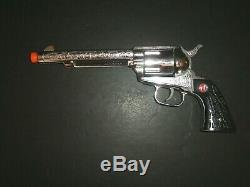 Vintage Nichols Stallion 45 Mark 2 Six Shooter Toy Cap Gun W Org Box & Grips