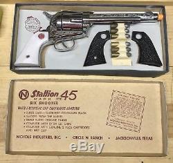 Vintage Nichols Stallion 45 Mark II Toy Cap Gun Six Shooter with Box