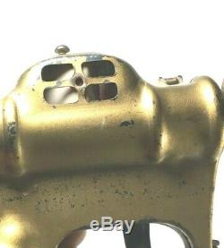 Vintage Original Gold Buck Rogers Space toy Atomic Pistol Gun full size prop