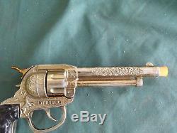 Vintage Original Gold Leslie Roy Rogers Cap Gun Unfired