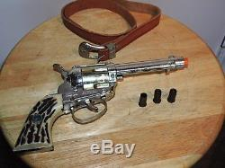 Vintage Original Mattel Fanner Shootin Shell Pistol Cap Gun & Shells 1960 1964