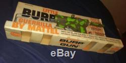 Vintage Original Mattel Little Burp Guerrilla Toy Gun With Box Rare