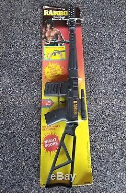 Vintage RAMBO Toy ARCO MoC Combat Sound Gun 1985 Sylvester Stallone RARE