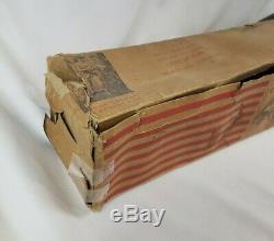 Vintage RARE 1940's WWII KRAK-A-JAP New Enterprises WOOD Machine Gun TOY with BOX