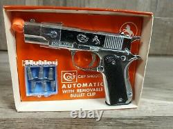 Vintage RARE 1958 Hubley Colt Automatic with Removable Clip Toy Cap Gun NEW