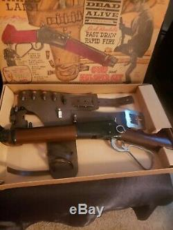 Vintage RARE Wanted Dead Or Alive Mare's Laig Gun & Holster Set With Box