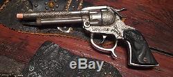 Vintage ROY ROGERS Cap Gun Holster Chaps Spurs Cowboy Ranch Kid Rare Estate Find