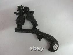 Vintage Rare Cast Iron Punch & Judy Cap Gun Toy Excellent Cond 257-h