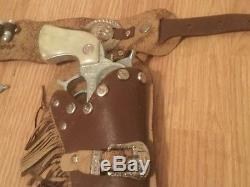 Vintage Roy Rogers Rare Holster & Cap Guns Set See Cap Guns