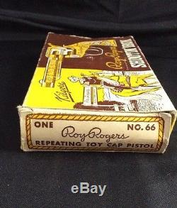 Vintage Roy Rogers Shooting Iron Cap Gun By Kilgore, 1953, In Original Box