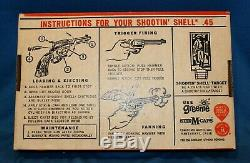 Vintage Shootin' Shell. 45 Cap Gun By Mattel- Mint In Original Window Box