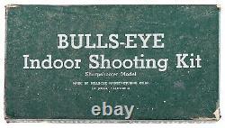 Vintage Silver Version Circa 1937 Bulls Eye SHARP SHOOTER Gun Pistol Metal Box