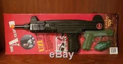 Vintage The A-team Uzi Sub Machine Gun Pistol Set Daisy Toy Super Rare Mib Moc