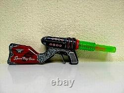 Vintage Tin Toy Space Ray Gun Made in Japan in 60's. Working. Rare