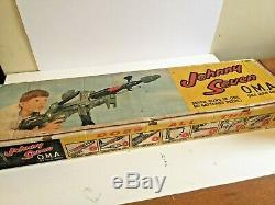 Vintage Topper JOHNNY SEVEN Toy Machine Gun + original box