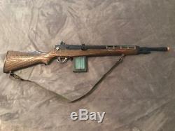 Vintage Topper U. S. Army Johnny Eagle Lieutenant Toy Cap Gun Rifle + Clip