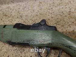 Vintage Toy Gun Rifle Pop Marx Green m1 Springfield