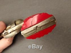 Vintage Toy Kilgore Big Horn Cap Gun Pistol Red Grips Holster