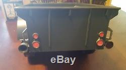 Vintage Toys Gi Joe Combat Jeep 7000 Original Box Tripod Gun Spotlight Green