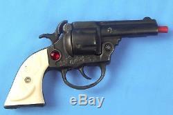 Vintage US Kenton Jene Autry Jeweled Diecast Toy Cap Gun Pistol Revolver