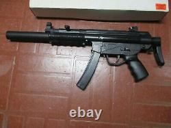 Vintage Uhc Toy Gun Hk Airsoft Mp5sd3 Used Plastic Spring Loaded 6mm Toy Rifle