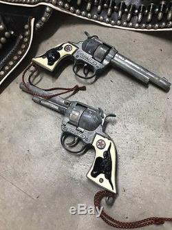 Vintage Western Boy Cowboy Outfit Cap Gun Holster Set