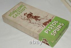 Vintage Wyandotte Hopalong Cassidy Toy Cap Gun and spurs set Boxed