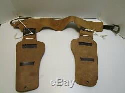 Vintage Wyatt Earp Dual Buntline Cap Gun Holster