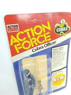 Vintage gi joe action force COBRA OFFICER toy figure moc HASBRO PALITOY rare 1