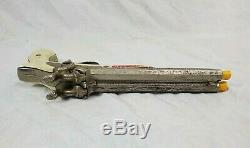 Vtg 1950'S Hubley Pirate Double Barrel Cap Gun Pistol Matching Original Holster