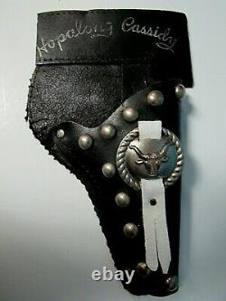 Vtg. Hopalong Cassidy Toy Wyandotte Cap Gun & Leather Holster With Embellishment
