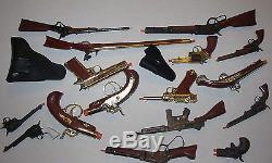 Vtg Lot 16 Toy Gun Collection Marx Pistol Rifle Army Mares Laig Dead or Alive