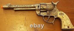 Vtg, Ric-O-Shay 45, Gene Autry 44 Cap Guns & Criss-cross Gunslinger Holster