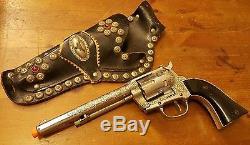 Vtg, Ric-O-Shay 45, Gene Autry 44 Cap Guns & Roy Rogers Double Cap Gun Holster