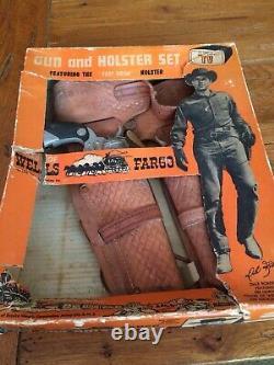 Wells Fargo Dale Robertson Toy With Original Box Rare Cap Gun