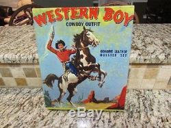 Western Cowboy King Western Boy Cap Gun Double Boxed Set Stevens Halco
