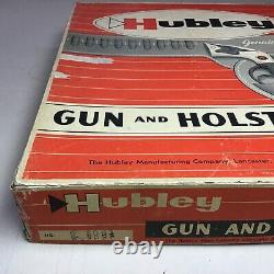 Wow! Awesome Hubley Colt 45 Gun And Leather Holster Set Vintage With Box Mint